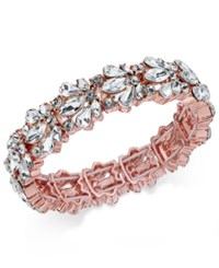 Charter Club Crystal Stone Stretch Bracelet Only At Macy's Rose Gold