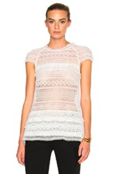 Marissa Webb Austin Lace Top In White