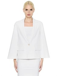 Givenchy Stretch Viscose Cady Cape Jacket
