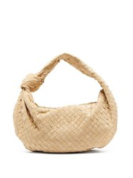 Bottega Veneta Bv Jodie Small Intrecciato Suede Shoulder Bag Beige