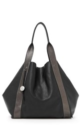 Botkier Baily Reversible Calfskin Leather Tote Black