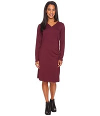 Exofficio Wanderlux Draped Dress Brandy Women's Dress Brown