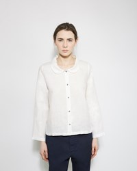 Le Vestiaire De Jeanne Peter Pan Collar Shirt White