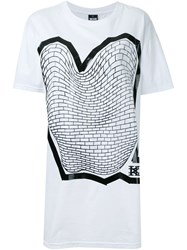 Ktz Brick Print T Shirt White