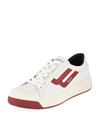 Bally New Competition Retro Low Top Sneakers Red White