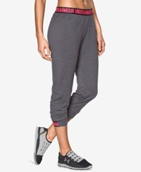 Under Armour Featherweight Cropped Fleece Pants Black