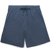 Handvaerk Pima Cotton Jersey Pyjama Shorts Blue