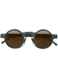 Kuboraum Round Sunglasses Black