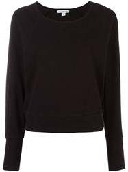 James Perse Raglan Sleeve Sweatshirt Black