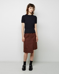 Marni Wool Tweed Skirt Bordeaux