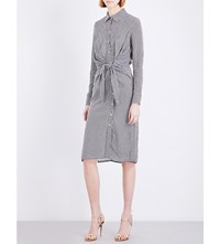 Altuzarra Yuma Gingham Crepe Shirt Dress Black White