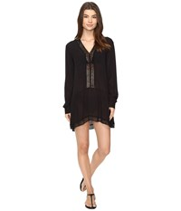 Athena Willow Tunic Cover Up Black Women's Swimwear