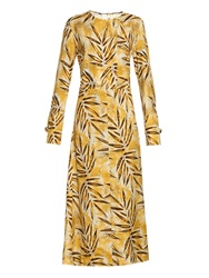 Marni Citrus Forest Print Silk Maxi Dress