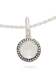 Ippolita Ippolitini Green Amethyst Diamonds And Black Sterling Silver Lollipop Charm Pendant