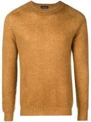 Roberto Collina Ribbed Knitted Sweater Yellow