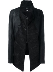 Lost And Found Ria Dunn Funnel Collar Jacket Black