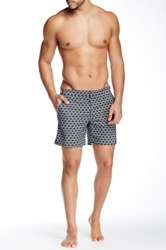 Parke And Ronen 6' Catalonia Print Swim Short Black