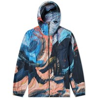 Alexander Mcqueen Brush Strokes Zip Jacket Multi