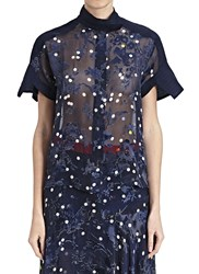 Preen Dot Arno Cropped Shirt Blue