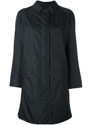 Aspesi Top Button Fastening Coat Black