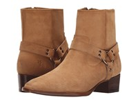 Frye Dara Harness Short Sand Suede Women's Zip Boots Tan