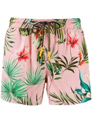 Entre Amis Floral Swimming Trunks Pink