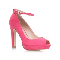 Miss Kg Anete High Heel Peep Toe Court Shoes Pink