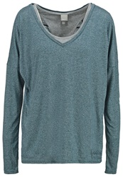 Bench Carefree 2In1 Long Sleeved Top Dark Teal Blue Blue Grey