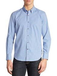 Robert Graham Wade Regular Fit Checkered Shirt Blue