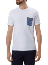 Lyle And Scott Contrast Pocket T Shirt White