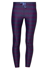 Roxy Relay Tights Astral Aura Chevron Geo Blue