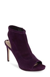 Via Spiga Women's 'Seraphina' Peep Toe Sandal Purple Suede