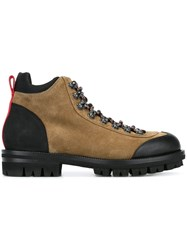 Dsquared2 Lace Up Walking Boots Brown