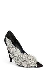 Women's Balenciagao Embellished Pointy Toe Pump Black