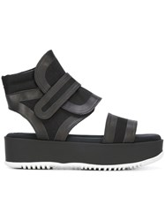 Marni Cut Out Ankle Boot Sandals Black