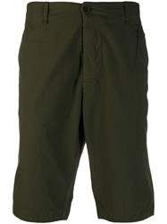 Transit Knee High Bermuda Shorts Green