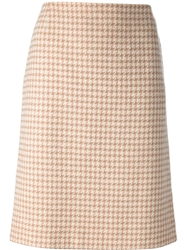 Chanel Vintage Pencil Skirt Nude And Neutrals