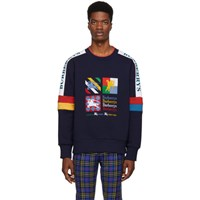 Burberry Multicolor Embroidered Archive Logo Sweatshirt