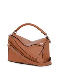 Loewe Puzzle Small Satchel Bag Tan