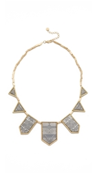 House Of Harlow Engraved Classic Station Necklace Gold Silver