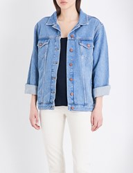French Connection Slouchy Western Denim Jacket Blue