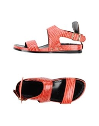 Rebeca Sanver Sandals Red