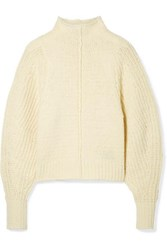 Isabel Marant Edilon Wool Blend Turtleneck Sweater Ecru