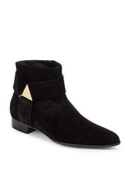 Giuseppe Zanotti Blade Leather Ankle Boots Black