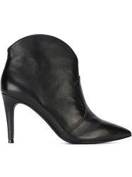 Ash Pointed Toe Booties Black