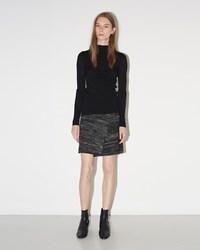 Isabel Marant Cashlin Ribbed Skirt Faded Black