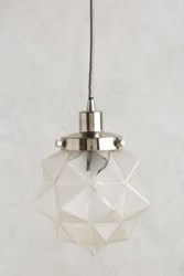 Anthropologie Frosted Facet Star Pendant Antique Nickel