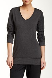 Central Park West The Wren Long Sleeve Tee Black