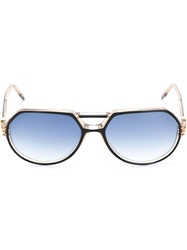 Yves Saint Laurent Vintage Round Frame Sunglasses Black