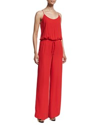 Haute Hippie Camisole Wide Leg Jumpsuit Tomato Red